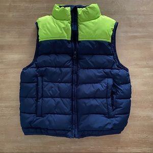 Color block puffer vest